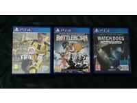 PlayStation 4 Games Fifa 17 Battleborn Watchdogs