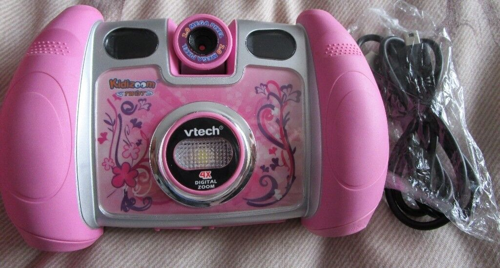 Pink Vtech Kidizoom Twist Plus Children's Camera - USB lead - 2gb Memory card & special pink case