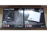 SALTER ARC ELECTRONIC KITCHEN SCALES - BRAND NEW ( 2 SCALES )