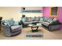 Shannon sofa corner plus cuddle chair and footstool O