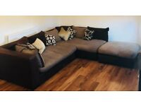 DFS Modular Corner Couch and Ottoman