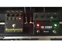 Ibanez tube screamer and a sansamp gt2