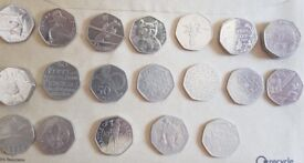 Collectible 50p and £2 coins