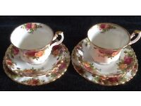 Royal Albert Cups, Saucers & Plates