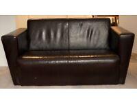 Leather Sofa, good condition, smoke + pet free home.