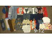 9-12 month boys clothes bundle