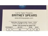 2x Britney Spears 25/08/18 London o2 Arena Floor seat tickets