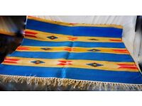 Colourful, Fun Large Rug - Blue