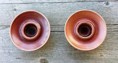 Pair of Royal Copenhagen Danish Midcentury Ceramic Candleholders