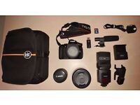 CANON EOS 600D WITH ACCESSORIES (GREAT CONDITION)