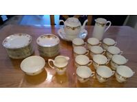 Antique 42 Piece Bone China Tea Set circa 1920s