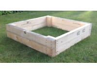 Large Sturdy Wooden Raised Vegetable/Flower Bed   Planter   Grow Bed   Hand Made