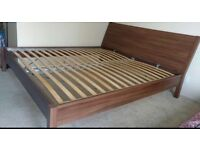 IKEA Nyvol dark brown king size bed for sale