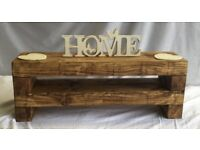 Handmade brand new wooden TV stand - Chunky Rustic (80cm long)