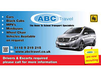 wheelchair taxi minibus with wheelchair lift for disabled wheelchairs - ABC TRAVEL 0118 9696969