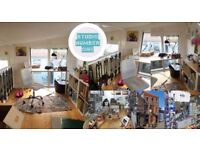 Studio space with shop for rent in Hidden Lane - perfect for craft business