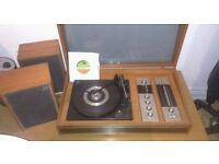 Vintage DeccaSound Compact 2 Radiogram/Turntable - Original Speakers - Excellent Condition