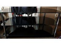 42inch 3 tier Black Glass Tv Stand