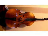 Double Bass, B&H 400, Czech made, incl bow, stand, soft case, pick-up mike, bow holder
