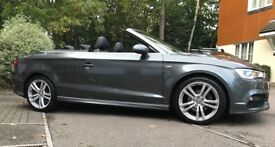 A3 Cabriolet S-Line 1.4T Metallic Grey in great condition