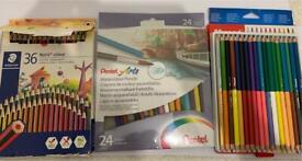 Assorted 68 watercolour pencils