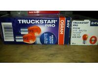20 x Genuine Osram Truckstar Pro PY21W (BAU15s) 21W 24V Amber Bulbs (7510TSP)