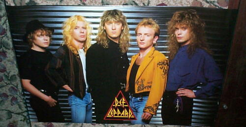 DEF LEPPARD GREAT Vintage Group  POSTER New Condition