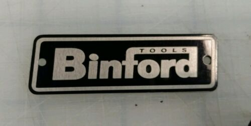 METAL BINFORD TOOLS TOOL BOX TAG ALUMINUM NAMEPLATE CUSTOM MADE
