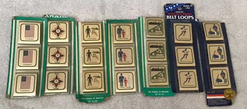 Vintage Boy Cub Scout BSA Official Belt Skill Awards
