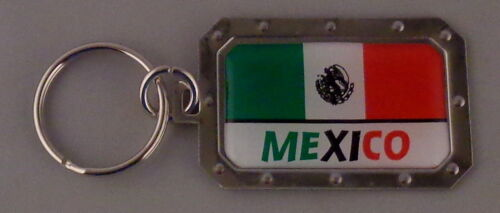 Mexico Mexican National Flag Metal Key Ring DOMED IMAGE