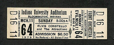 1979 Elvis Costello Unused Concert Ticket IN Armed Forces Accidents Will Happen