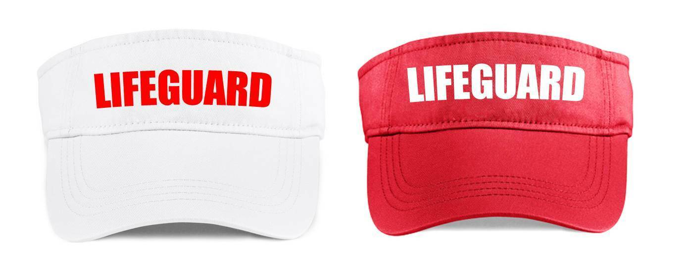Details about LIFEGUARD Visor Red White Funny Printed Fancy Dress Costume  Outfit Cap Hat Beach 6ca4120fc7a
