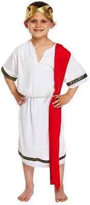 nator Toga Historisch Büchertag Kostüm Kleid Outfit 4-12 (Römischer Senator Toga)