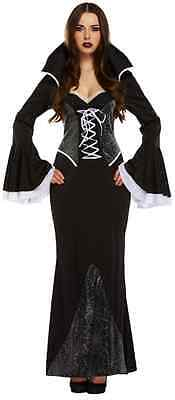 Ladies Sexy Full Length Long Spider Vampire Halloween - Sexy Vampir Outfits
