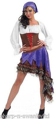 Damen Zigeuner-Stil Wahrsagerin Piraten Halloween Party Kostüm Kleid - Zigeuner Outfit