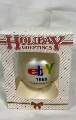 NEW VINTAGE 1998 EBAY LOGO EBAYANA COLLECTIBLE CHRISTMAS/XMAS TREE BALL ORNAMENT