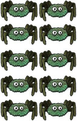 Spider - Halloween - Insect - Crafts - School - Embroidered Iron On Patch - 10PC ()