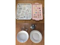Set of plates, Japanese tea kettle, glasses, trays, potatoes peeler Near Russell Square Kings Cross
