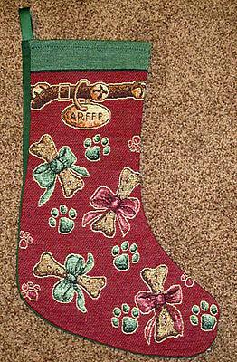Arfff Dog Tapestry Christmas Stocking ()