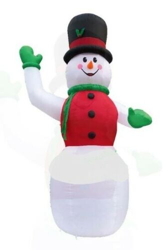 CHRISTMAS SANTA HUGE 20 FT TALL SNOWMAN WITH HAT  INFLATABLE AIRBLOWN YARD DECOR