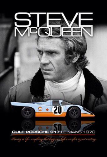 McQueen Gulf Porsche 917@ Le Mans 1970 FREE XMAS SHIPPING IN USA Car Poster: )