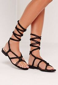 Misguided lace up sandals