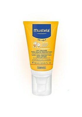 Mustela Sunscreen Very High Protection SPF50+ Face Sun Lotion 40ml FREE SHIPPING