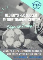 Old Boys Rec Soccer- Register for the Season or Drop in!