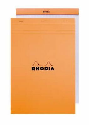 Rhodia Le Carre French Paper Orange Lined W Margin 6 X 8.25 Notebook - 16600