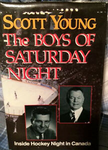 Hardcover Hockey Book- Boys of Saturday Night by Scott Young
