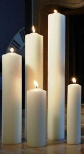 4 Altarkerzen 400 x 40 mm Leuchterkerze Elfenbein RAL Qualität Markenkerzen