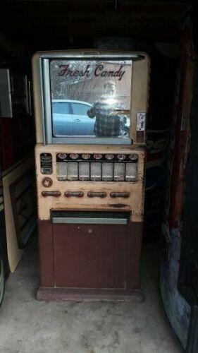 vintage stoner or national candy vending machine