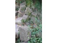 Arcitecht bath Building stone large weathered quions corner foundation blocks