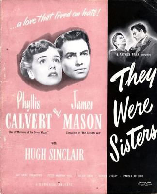 THEY WERE SISTERS pressbook, Phyllis Cavert, James Mason, Anne Crawford